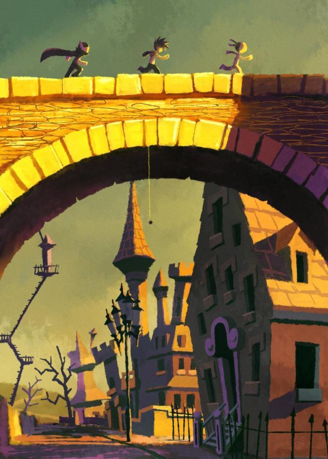 ヒョーゴノスケさんが描いた『ホラー横丁13番地』のイラスト