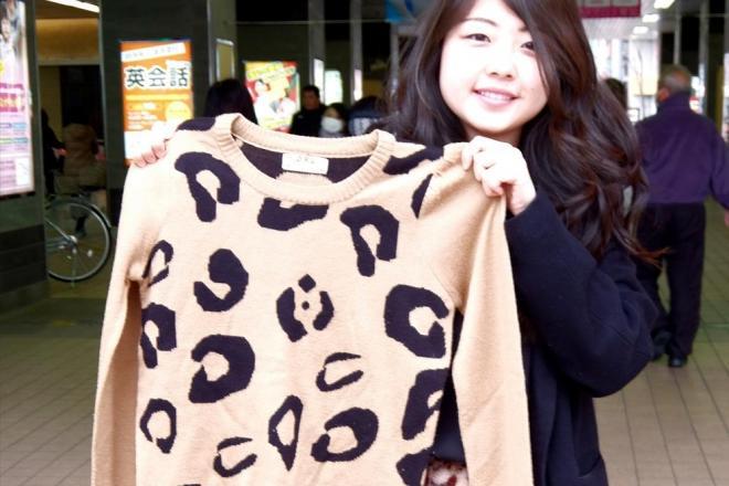 ヒョウ柄好きが多い埼玉県人。草加市の女性は通販で購入したヒョウ柄セータを持ってきてくれた