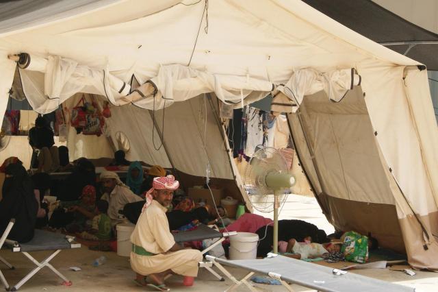 急増するコレラの患者を治療するため、国境なき医師団がイエメン北部ハッジャ州に設けたコレラ治療センター=国境なき医師団提供