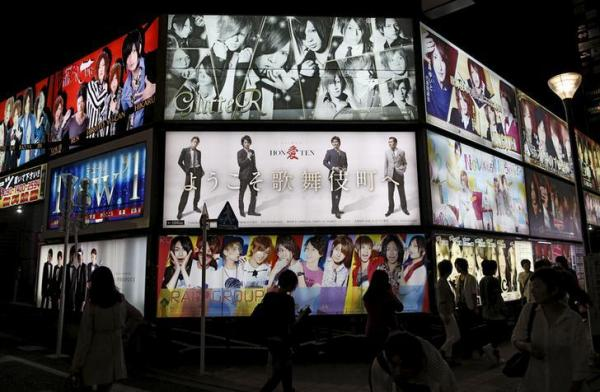 歌舞伎町のホストの看板