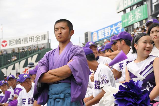 甲子園は応援団長として4試合を経験した