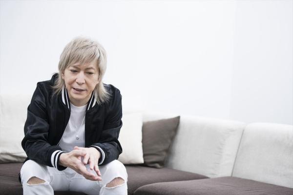 「90年代から今まで活動してきた自分の世界観。それを音楽で形にしていきたい」=川田洋司撮影