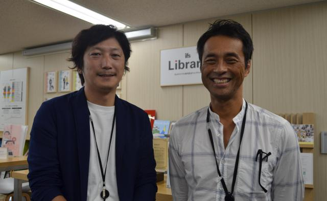 伊藤忠ファッションシステム株式会社の本橋由起さん(左)と高田昭裕さん(右)