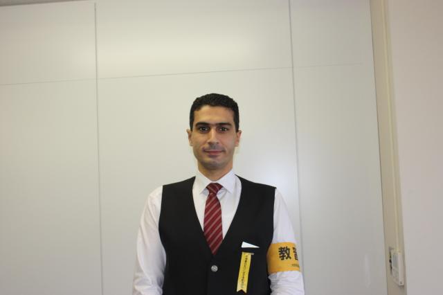エジプト出身のモハメッド・モスアド・セリムさん(30歳)、取材当時はまだ研修中