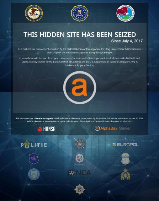 米司法当局が世界の当局と連携して閉鎖した闇サイト「アルファベイ」=ロイター