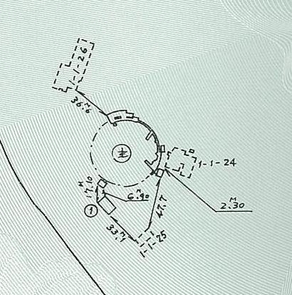 「スペース・マウンテン」の位置を示した図面