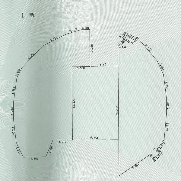 シンデレラ城の1階平面図。床面積は450平方メートル。