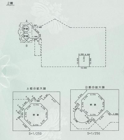 ホーンテッドマンション2階の平面図