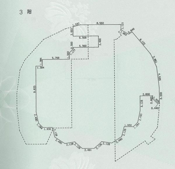 シンデレラ城の3階平面図。床面積は475平方メートルあり、大広間のように広い。