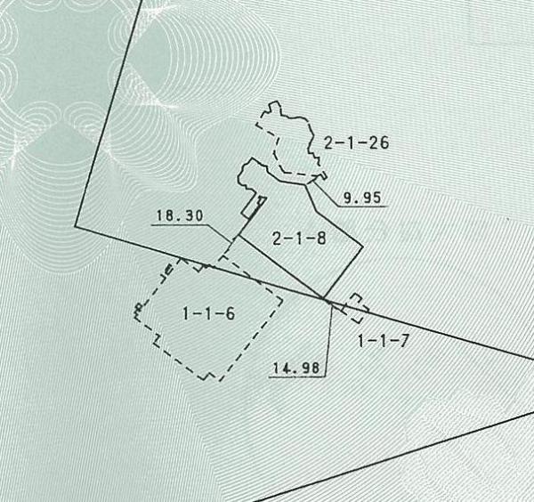「ホーンテッドマンション」の位置を示した図面
