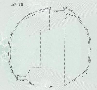 シンデレラ城の地下1階の平面図