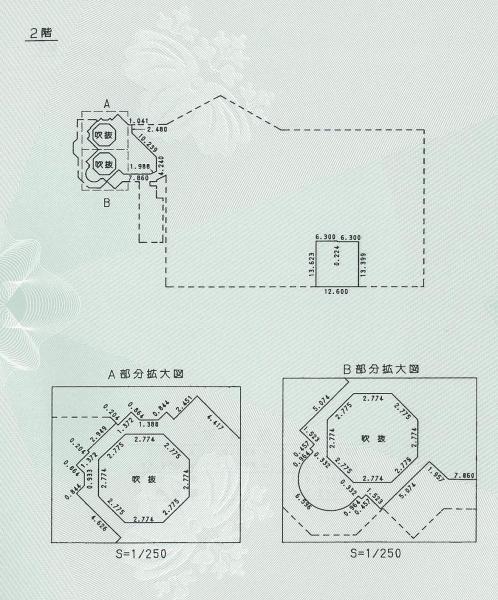 「ホーンテッドマンション」の2階平面図