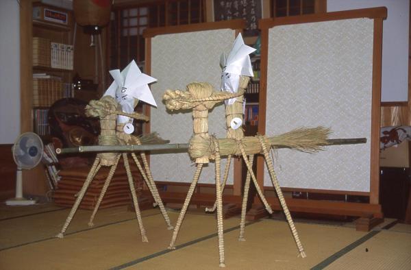 完成したサバーサマ=2002年6月23日、山口県下関市立豊北歴史民俗資料館提供