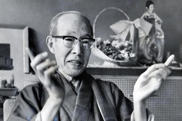 零戦の設計者の堀越二郎氏。YS11の設計にも関わった=1976年2月25日