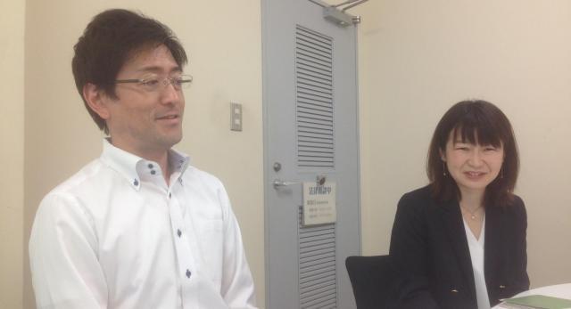 国民生活センターの稲垣さん(左)と大槻さん。ありがとうございました。