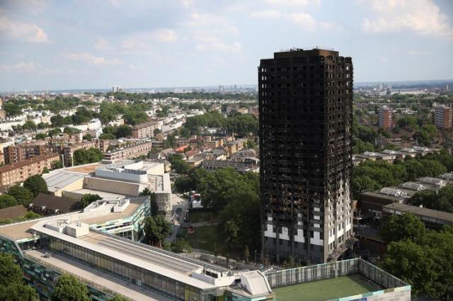 火災があったロンドンの高層マンション