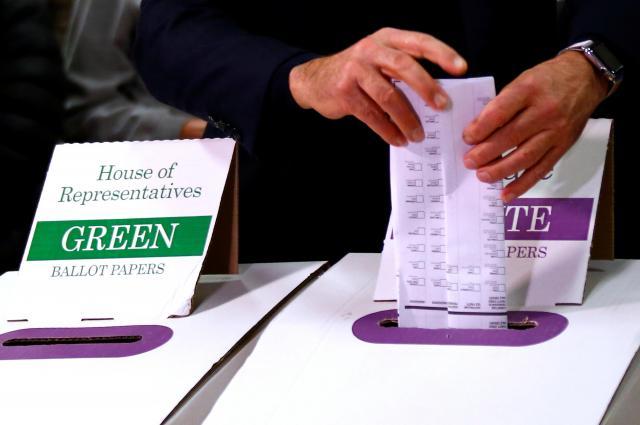 オーストラリア総選挙の投票箱=2016年7月2日
