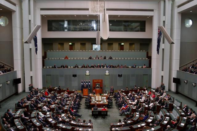 オーストラリアの首都キャンベラにある国会の下院=2014年11月17日