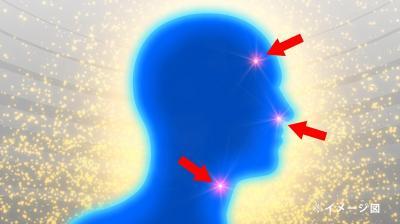 患部が光るイメージ図