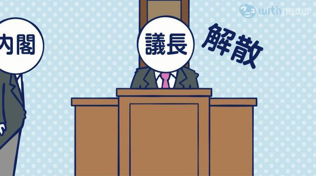 解散総選挙は、衆院を解散する方針を決めた内閣の助言と承認により天皇が国事行為として行う=デザイン・岩見梨絵