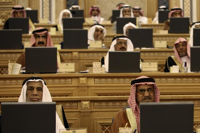 諮問評議会に出席した議員たち=2007年7月1日