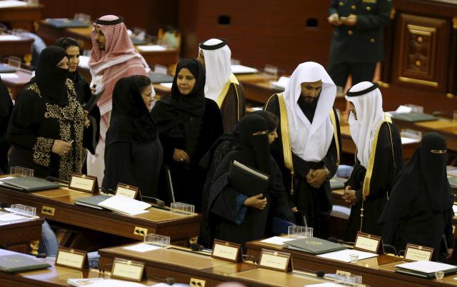 諮問評議会は2013年から、議員150人中30人に女性が任命されるようになった=2015年12月23日