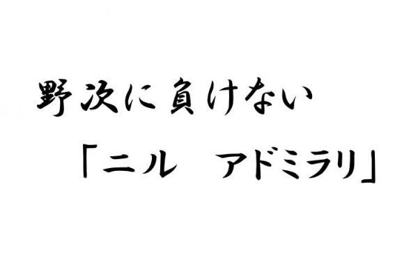 「野次に負けない『ニルアドミラリ』」(ひきたよしあきさん作)