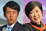 安倍政権への「飽き」を指摘した小泉進次郎氏(左)と野党の「揺れ」の震源の小池百合子氏