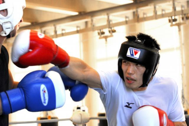 アマチュア時代の2011年、ロンドン五輪に向けて練習する村田選手