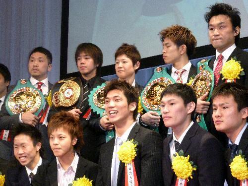 2011年度のアマ最優秀選手に選ばれた村田諒太選手