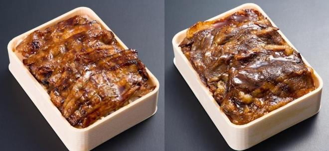 こちらが名物「あみ焼き弁当」。左が豚、右が牛
