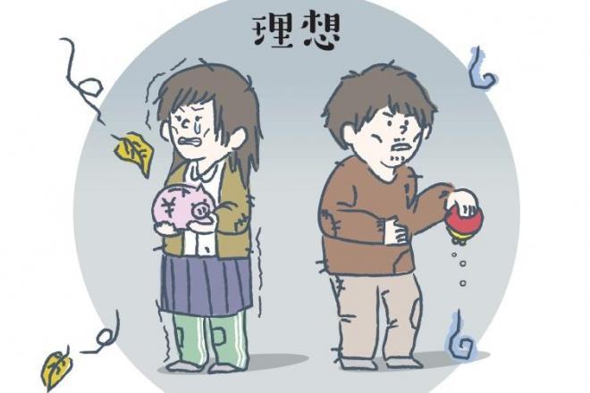 「理想」の貧困は、こんなイメージ?