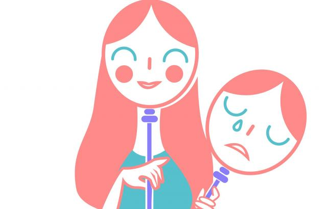 「泣いてしまうから、笑っている」人もいる(画像はイメージです)