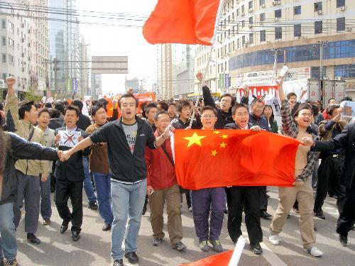 2005年に北京であった反日デモ