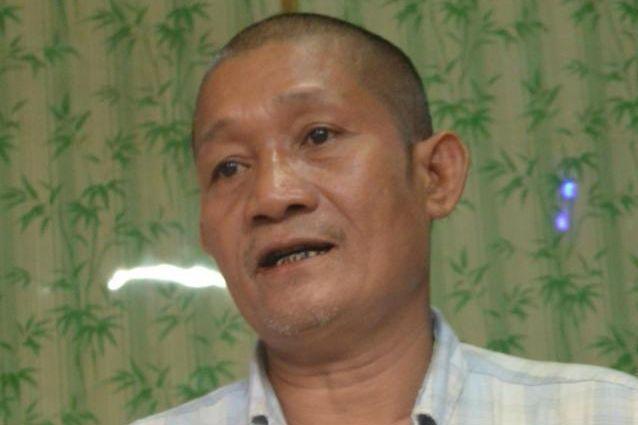 長井健司さんが射殺された映像を命からがら守ったヤンナインさん。今も警察や軍の目を警戒し、仮名で仕事をすることが多い=9月、ヤンゴン、染田屋竜太撮影