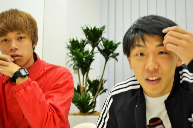 今度は田中さんもカメラ目線