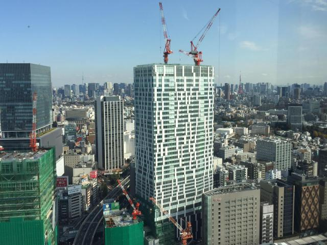 2018年秋に開業予定の「渋谷ストリーム」=東京都渋谷区
