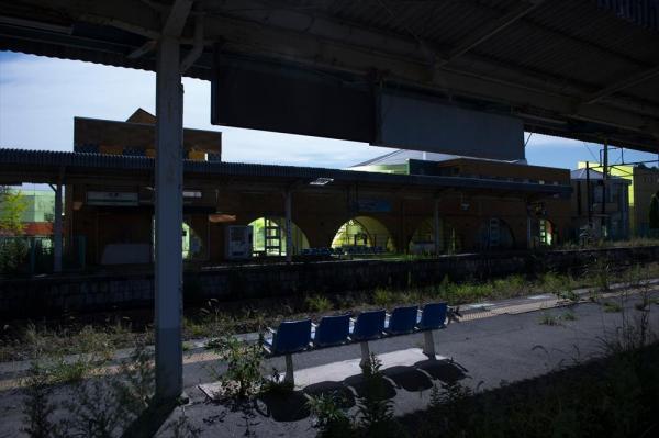 JR常磐線の全線開通は、2020年に見込まれている=福島県双葉町のJR双葉駅