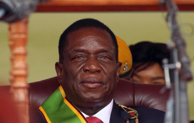 ムガベ氏にかわって大統領になったムナンガグワ氏=2017年11月24日
