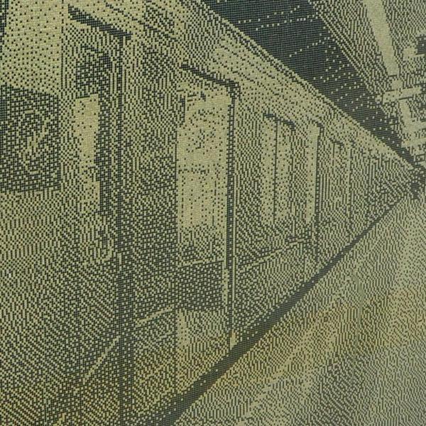 切符のパンチくずで描かれた地下鉄車両