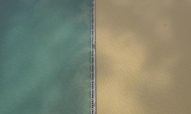 2色の対比がわかりやすいように、真上から切り取るように撮影しました=10月23日午前、加藤諒撮影