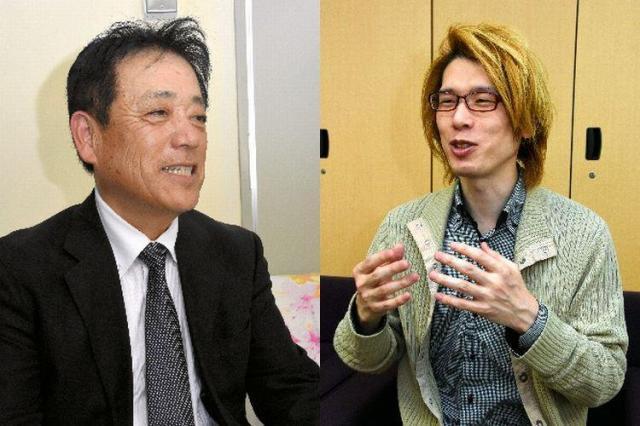 米子高専教授の池本幸雄さん(左)と、名古屋大大学院准教授の内田良さん