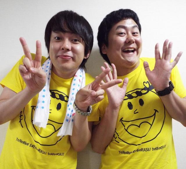 ウーマンラッシュアワーの村本大輔さん(左)と中川パラダイスさん=2014年