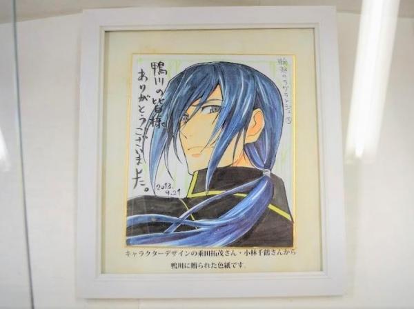 原画展で飾られていたキャラクターの色紙