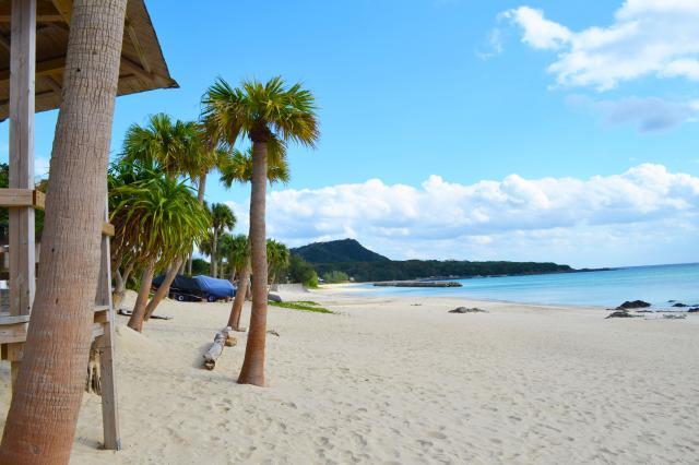 奄美市笠利町の砂浜