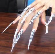 第43回全日本美容技術選手権大会のネイルアート競技で優勝した爪=千葉県我孫子市