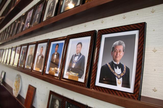 壁にあった歴代グランドマスターの写真