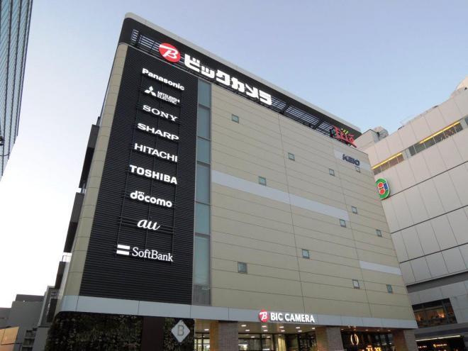 ビックカメラ京王調布店。京王電鉄の調布駅のすぐ近くにあります