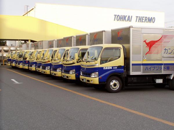 2016年末、大垣支店で実施された「車両格納」