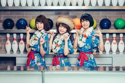 新曲「カリプソ娘に花束を」に合わせて発表されたNegiccoの(左から)Kaedeさん、Nao☆さん、Meguさんの写真